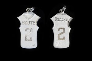 sterling silver basketball custom jersey pendant