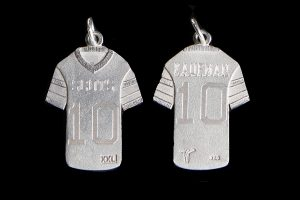 sterling silver football custom jersey pendant